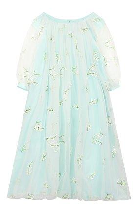 Детское платье PAADE MODE бирюзового цвета, арт. 20210251/6M-8Y | Фото 1