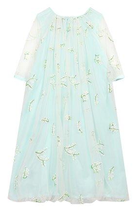 Детское платье PAADE MODE бирюзового цвета, арт. 20210251/6M-8Y | Фото 2