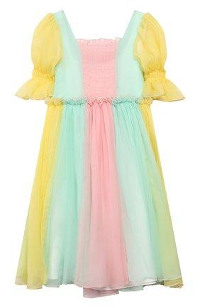 Детское шелковое платье PAADE MODE разноцветного цвета, арт. 20210352/6M-8Y | Фото 1
