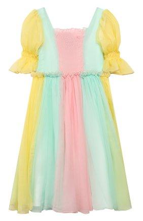 Детское шелковое платье PAADE MODE разноцветного цвета, арт. 20210352/6M-8Y | Фото 2