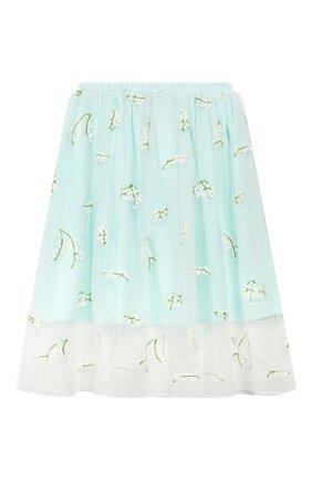 Детская юбка PAADE MODE бирюзового цвета, арт. 20216311/6M-8Y | Фото 1