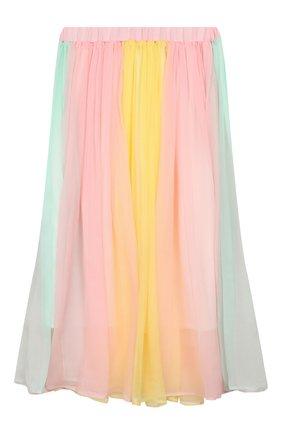 Детская шелковая юбка PAADE MODE разноцветного цвета, арт. 20216602/6M-8Y | Фото 1