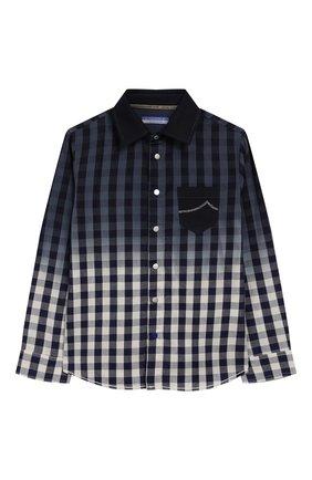 Детская хлопковая рубашка JACOB COHEN синего цвета, арт. J8006 T-30004 | Фото 1