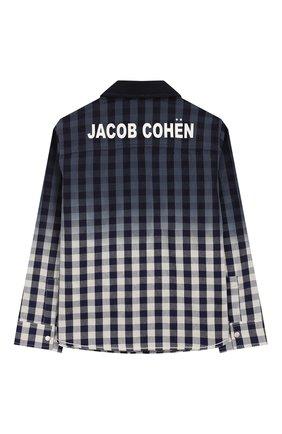 Детская хлопковая рубашка JACOB COHEN синего цвета, арт. J8006 T-30004 | Фото 2