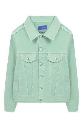 Детская джинсовая куртка JACOB COHEN зеленого цвета, арт. J9007 T-10007 | Фото 1