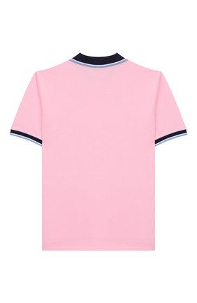 Детское хлопковое поло POLO RALPH LAUREN розового цвета, арт. 321786337   Фото 2
