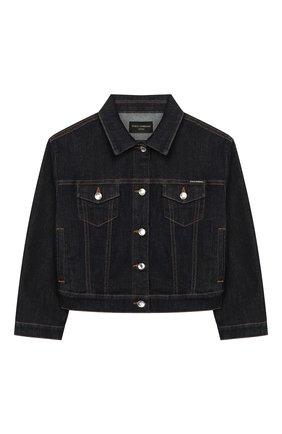 Детская джинсовая куртка DOLCE & GABBANA темно-синего цвета, арт. L51B42/LD887/2-6 | Фото 1