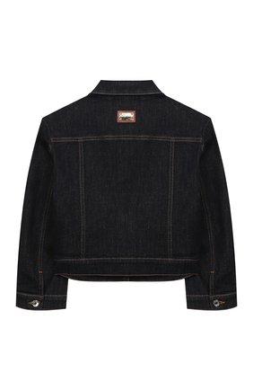 Детская джинсовая куртка DOLCE & GABBANA темно-синего цвета, арт. L51B42/LD887/2-6 | Фото 2