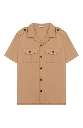 Детская хлопковая рубашка DOLCE & GABBANA бежевого цвета, арт. L43S22/G7WGR/8-14 | Фото 1