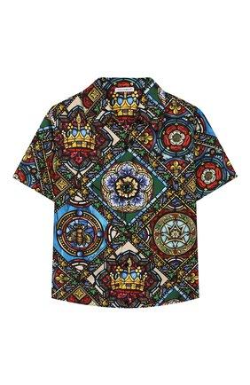 Детская хлопковая рубашка DOLCE & GABBANA разноцветного цвета, арт. L43S06/HS5GL/2-6 | Фото 1
