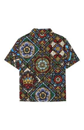 Детская хлопковая рубашка DOLCE & GABBANA разноцветного цвета, арт. L43S06/HS5GL/2-6 | Фото 2