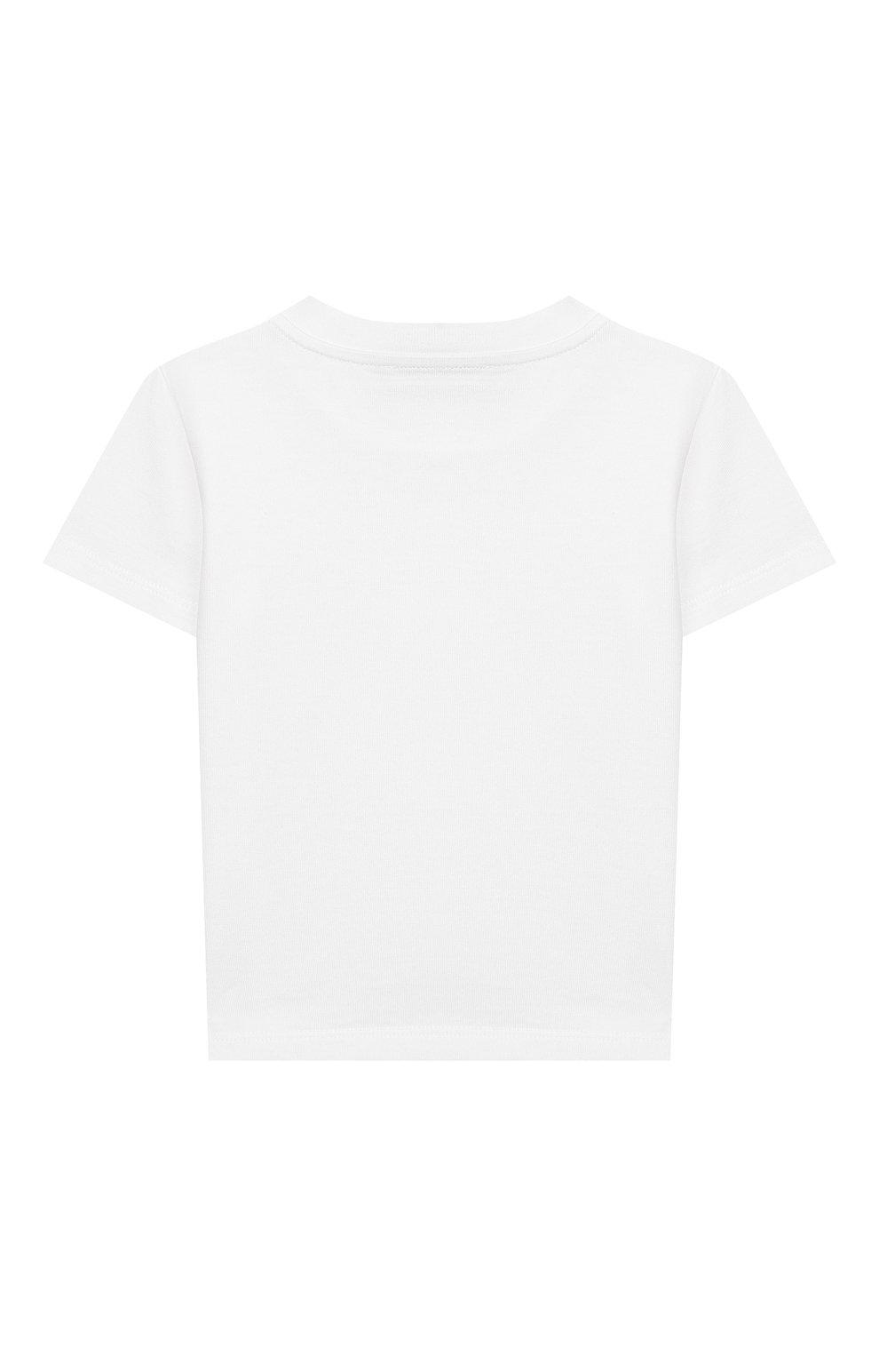 Детский хлопковая футболка DOLCE & GABBANA белого цвета, арт. L2JT7P/G7WC0 | Фото 2