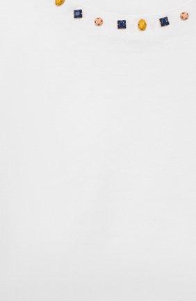 Детский хлопковая футболка DOLCE & GABBANA белого цвета, арт. L2JT7P/G7WC0 | Фото 3