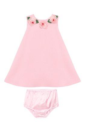 Женский комплект из платья и шорт DOLCE & GABBANA светло-розового цвета, арт. L22DF8/FUBD2 | Фото 1
