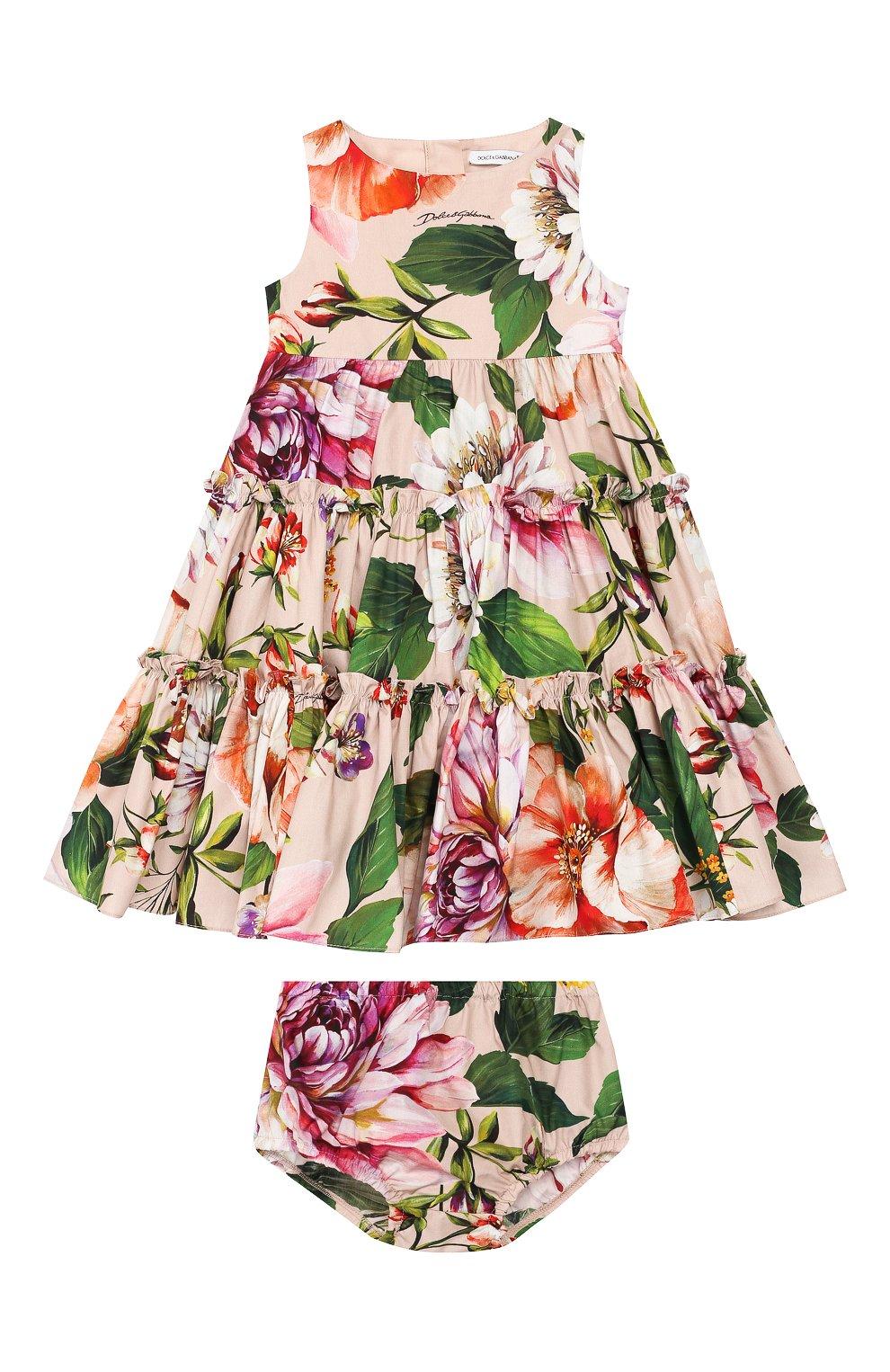 Женский комплект из платья и шорт DOLCE & GABBANA светло-розового цвета, арт. L22DF0/HS5F8 | Фото 1