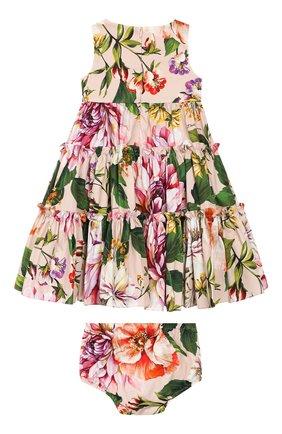 Женский комплект из платья и шорт DOLCE & GABBANA светло-розового цвета, арт. L22DF0/HS5F8 | Фото 2