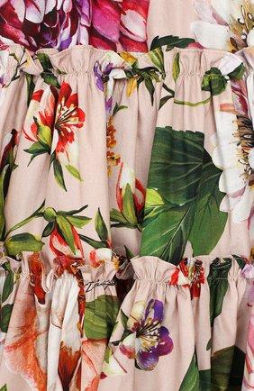 Женский комплект из платья и шорт DOLCE & GABBANA светло-розового цвета, арт. L22DF0/HS5F8 | Фото 3