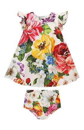 Женский комплект из платья и шорт DOLCE & GABBANA разноцветного цвета, арт. L22DE4/HS5F9 | Фото 1