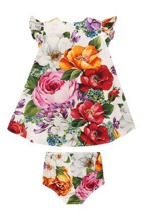 Женский комплект из платья и шорт DOLCE & GABBANA разноцветного цвета, арт. L22DE4/HS5F9 | Фото 2
