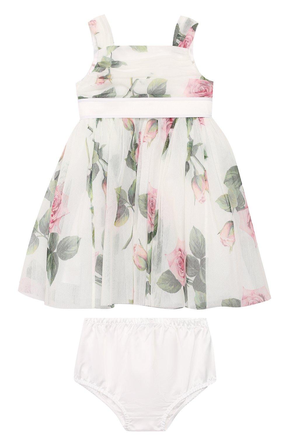 Женская комплект из платья и шорт DOLCE & GABBANA белого цвета, арт. L22DC5/FSEHM   Фото 1