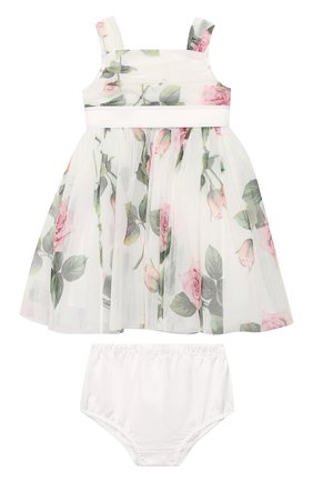 Женский комплект из платья и шорт DOLCE & GABBANA белого цвета, арт. L22DC5/FSEHM | Фото 1