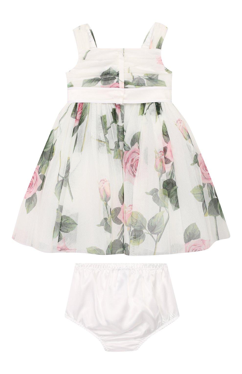 Женская комплект из платья и шорт DOLCE & GABBANA белого цвета, арт. L22DC5/FSEHM   Фото 2