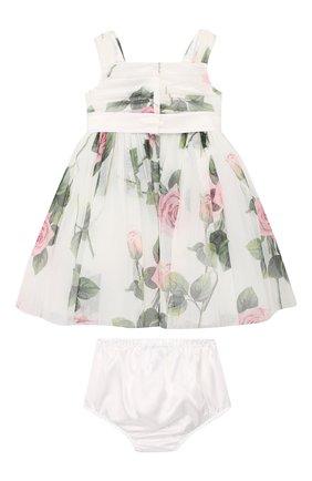 Женский комплект из платья и шорт DOLCE & GABBANA белого цвета, арт. L22DC5/FSEHM | Фото 2