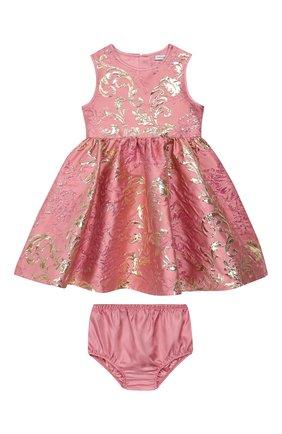 Женский комплект из платья и шорт DOLCE & GABBANA светло-розового цвета, арт. L22DB7/HJMJN | Фото 1
