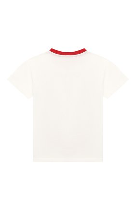Детский хлопковая футболка DOLCE & GABBANA белого цвета, арт. L1JT8E/G7VQA | Фото 2