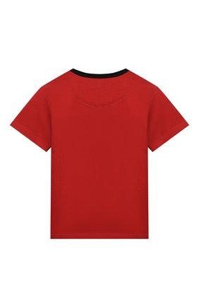 Детский хлопковая футболка DOLCE & GABBANA красного цвета, арт. L1JT6S/G7VL0 | Фото 2