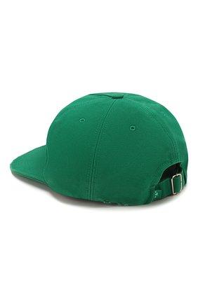 Мужской хлопковая бейсболка OFF-WHITE зеленого цвета, арт. 0MLB022S20G810024401 | Фото 2