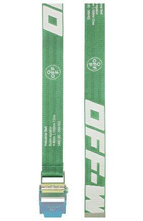 Мужской текстильный ремень OFF-WHITE зеленого цвета, арт. 0MRB034S20F420414001 | Фото 2