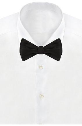 Мужской шелковый галстук-бабочка CORNELIANI черного цвета, арт. 85U318-0120301/00 | Фото 2