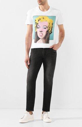 Мужская хлопковая футболка DIEGO VENTURINO белого цвета, арт. SS20-DV TS MWL | Фото 2