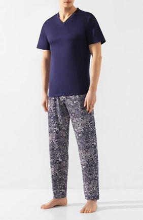 Мужские домашние брюки ZIMMERLI темно-синего цвета, арт. 3408-95621   Фото 2