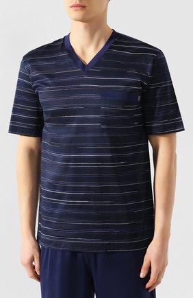 Мужская хлопковая пижама ZIMMERLI темно-синего цвета, арт. 3406-95412 | Фото 2