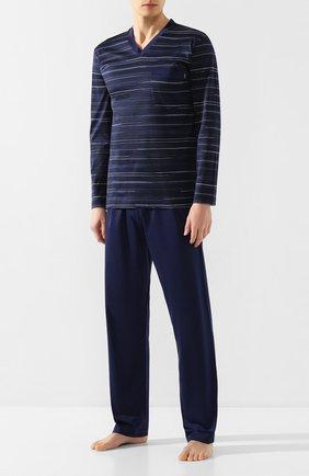 Мужская хлопковая пижама ZIMMERLI темно-синего цвета, арт. 3406-95402 | Фото 1