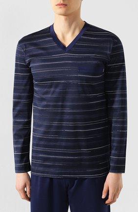 Мужская хлопковая пижама ZIMMERLI темно-синего цвета, арт. 3406-95402 | Фото 2