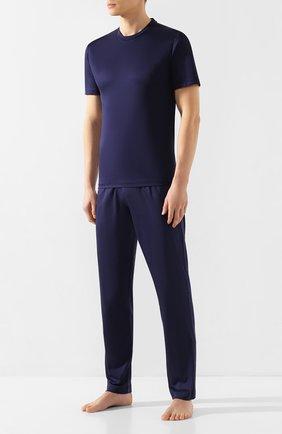 Мужские хлопковые домашние брюки ZIMMERLI темно-синего цвета, арт. 249-95304   Фото 2