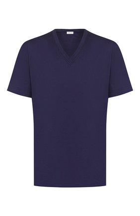 Мужские хлопковая футболка ZIMMERLI темно-синего цвета, арт. 249-95301 | Фото 1