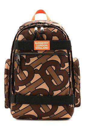 Мужской текстильный рюкзак BURBERRY коричневого цвета, арт. 8025053 | Фото 1
