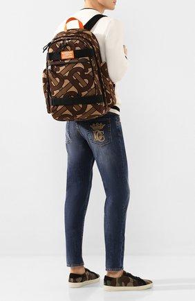 Мужской текстильный рюкзак BURBERRY коричневого цвета, арт. 8025053 | Фото 2