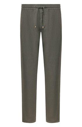 Мужские льняные брюки ALTEA хаки цвета, арт. 2053065 | Фото 1