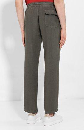 Мужские льняные брюки ALTEA хаки цвета, арт. 2053065 | Фото 4