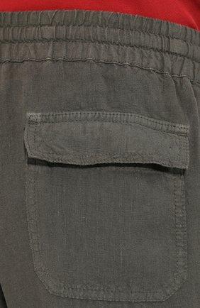 Мужские льняные брюки ALTEA хаки цвета, арт. 2053065 | Фото 5