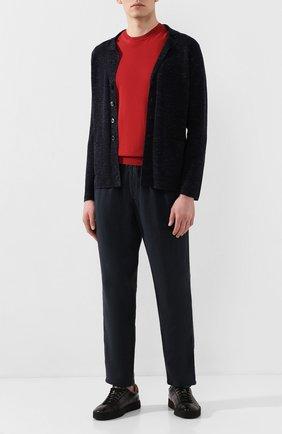 Мужские льняные брюки ALTEA синего цвета, арт. 2053065 | Фото 2
