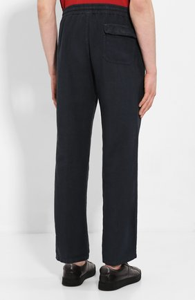 Мужские льняные брюки ALTEA синего цвета, арт. 2053065 | Фото 4