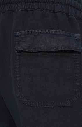 Мужские льняные брюки ALTEA синего цвета, арт. 2053065 | Фото 5
