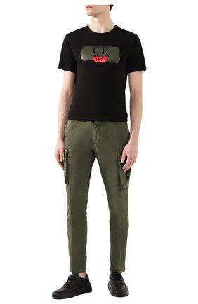 Мужской хлопковые брюки-карго STONE ISLAND хаки цвета, арт. 7215318WA | Фото 2