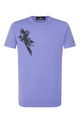 Мужская хлопковая футболка STONE ISLAND SHADOW PROJECT сиреневого цвета, арт. 721920110 | Фото 1